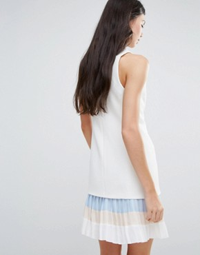 photo Tailored Pencil Dress with Frill Detail by Endless Rose, color White - Image 2