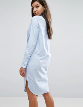 photo Cotton Twist Front Shirt Dress by Lavish Alice, color Blue - Image 2