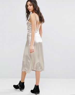 photo Midi Cami Dress In Satin by Glamorous, color Ivory - Image 2