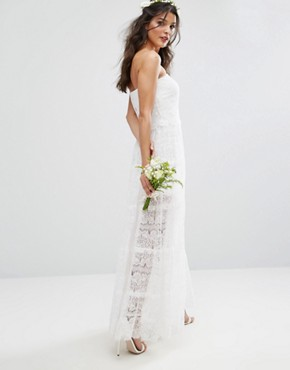 photo Bridal Tiered Maxi Dress by Body Frock, color Ivory - Image 2