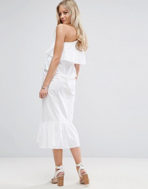 photo Maxi Dress with One Shoulder by ASOS Maternity, color White - Image 2