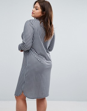 photo Gingham Shirt Dress with Side Splits by Pink Clove, color  - Image 2