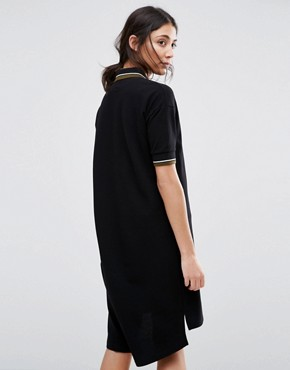 photo Loose Fit Polo Dress by Native Youth, color Black - Image 2