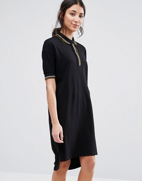 photo Loose Fit Polo Dress by Native Youth, color Black - Image 1