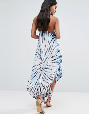 photo Blue Tie Dye Beach Dress by Surf Gypsy, color Blue/Natural - Image 2