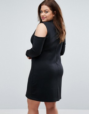 photo Cold Shoulder Dress by Pink Clove, color Black - Image 2