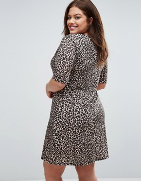 photo Animal Print Shift Dress by Pink Clove, color  - Image 2