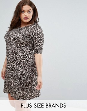 photo Animal Print Shift Dress by Pink Clove, color  - Image 1