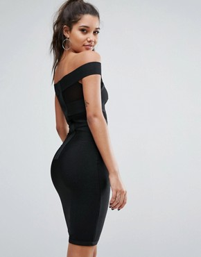 photo Bandage Off Shoulder Dress by WOW Couture, color Black - Image 2