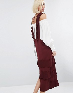 photo Briel Dress by Style Mafia, color Maroon - Image 2
