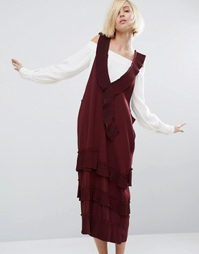 photo Briel Dress by Style Mafia, color Maroon - Image 1