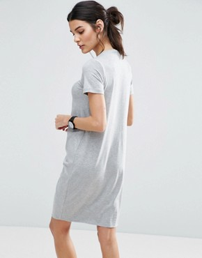 photo T-Shirt Dress With Gathered Front by ASOS, color Grey Marl - Image 2