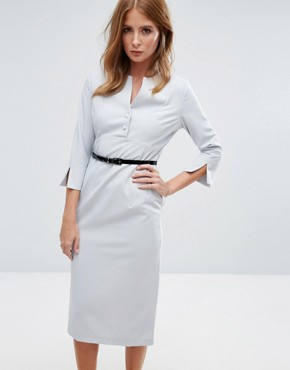 photo Layla Belted Pencil Dress by Millie Mackintosh, color Grey - Image 1