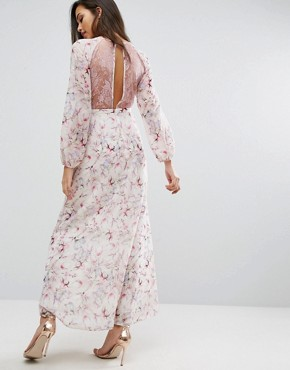 photo Lace and Floral Maxi Dress by Miss Selfridge, color  - Image 2