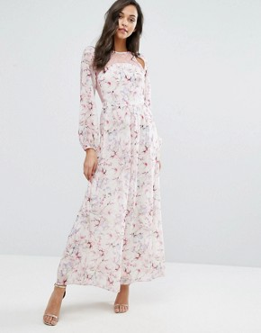 photo Lace and Floral Maxi Dress by Miss Selfridge, color  - Image 1