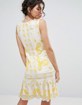 photo Sequin Shift Mini Dress by Frock and Frill, color Off White - Image 2