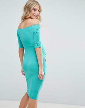 photo Bardot Dress with Half Sleeve by ASOS Maternity, color Teal - Image 2