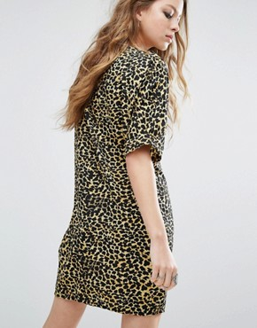 photo I-Tunic Leopard Print Dress by Noisy May, color Leopard - Image 2