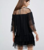 photo Mesh Dress with Frills by E.F.L.A, color Black - Image 2