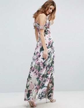 photo Cold Shoulder Floral Print Maxi Dress by Vero Moda Tall, color  - Image 2