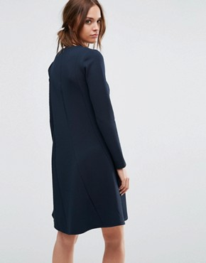 photo Long Sleeve Dress by Selected Femme, color Dark Sapphire - Image 2