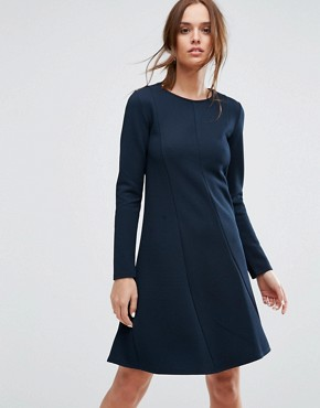 photo Long Sleeve Dress by Selected Femme, color Dark Sapphire - Image 1