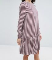 photo Striped Dropped Waist Dress by Selected Femme, color Striped - Image 3