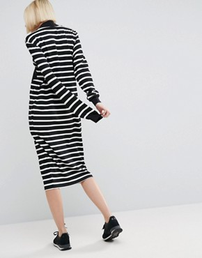 photo Stripe Sweater Dress With Zip Pocket Detail by ASOS WHITE, color  - Image 2