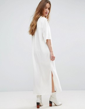photo Sook Maxi Shirt Dress by Samsoe & Samsoe, color Clear Cream - Image 2
