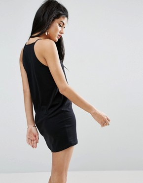 photo High Neck Cami Dress by ASOS, color Black - Image 2