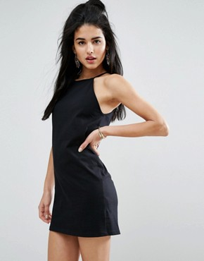 photo High Neck Cami Dress by ASOS, color Black - Image 1