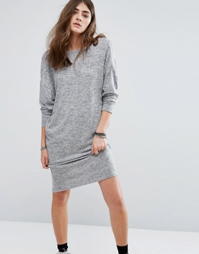photo Knot Back Detail Jersey Dress by Pull&Bear, color Grey - Image 2