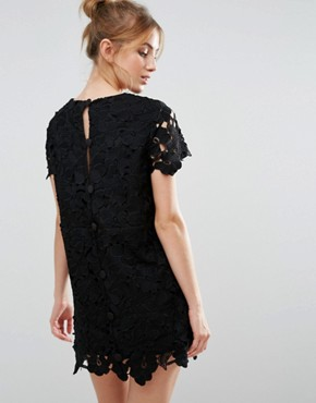 photo Crochet Shift Dress by The English Factory, color Black - Image 2