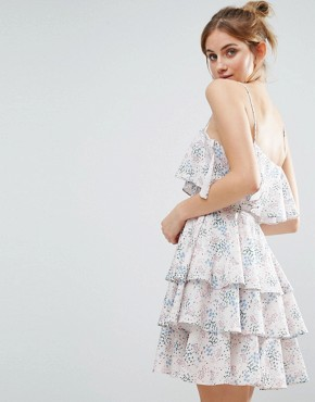 photo Floral Print Ruffle Dress by The English Factory, color Jardinet - Image 2