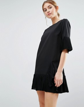 photo Pleat Detail Dress by The English Factory, color Black - Image 1