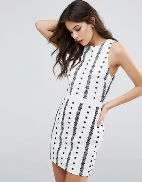 photo Embroidered Dress by The English Factory, color White/Black - Image 2