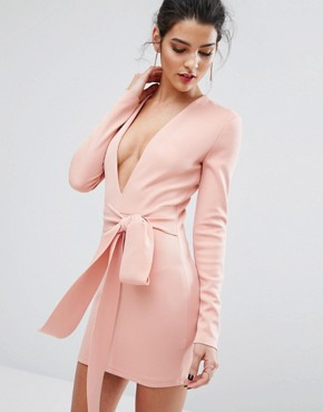 photo India Rosa Long Sleeve Tie Dress by Bec & Bridge, color Pink - Image 1