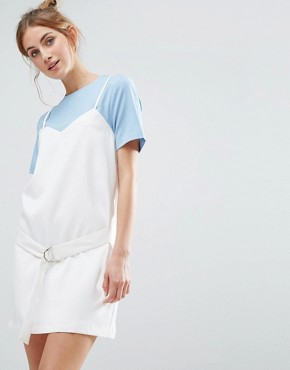 photo Two Layer Dress by The English Factory, color Powder Blue/Ivory - Image 1