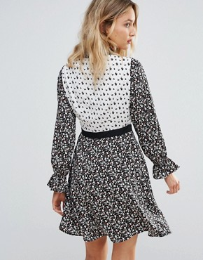 photo Mix And Match Print Shirt Dress by Influence, color  - Image 2