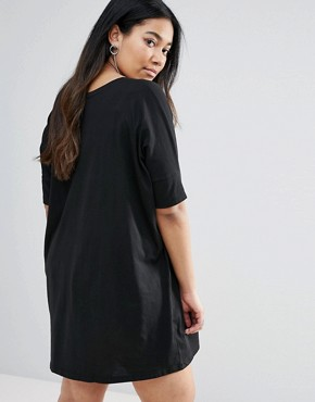 photo Rock T-Shirt Dress by Religion Plus, color Black - Image 2