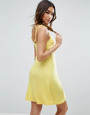 photo Cami Swing Sundress with Tie Straps by ASOS, color Yellow - Image 2