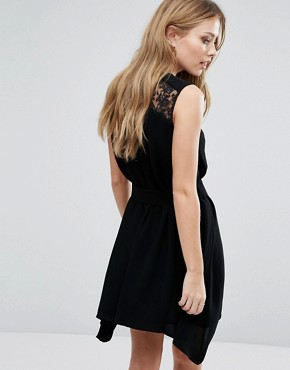 photo Hennessy Drape Dress by French Connection, color Black - Image 2