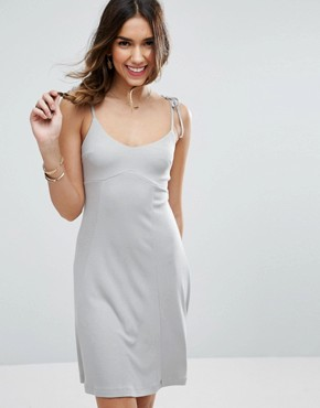 photo Cami Swing Sundress with Tie Straps by ASOS, color Grey - Image 1
