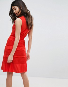 photo Pleat Lace Jersey Dress by French Connection, color Sunset Wave - Image 2