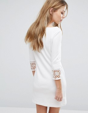 photo Noland Layer Jersey Dress by French Connection, color Summer White - Image 2