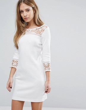 photo Noland Layer Jersey Dress by French Connection, color Summer White - Image 1