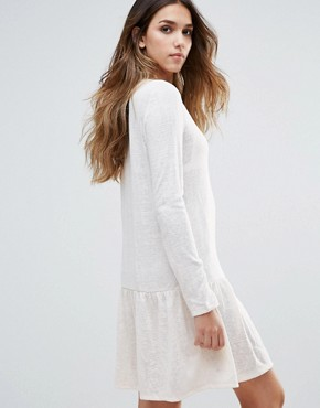 photo Drop Hem Dress by First & I, color White - Image 2