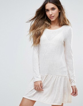photo Drop Hem Dress by First & I, color White - Image 1