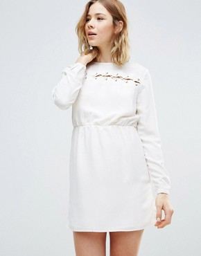 photo Smock Dress by First & I, color White - Image 1