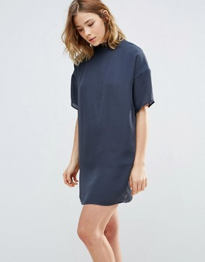 photo Dress with Collar Detail by First & I, color Blue - Image 1